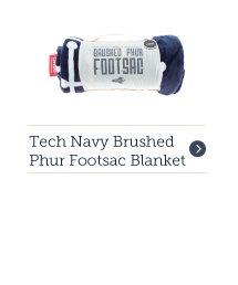 Tech Navy Brushed Phur Footsac Blanket