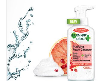 New Garnier Clean+ Purifying Foam Cleanser
