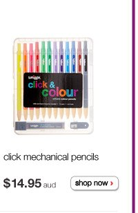 click mechanical pencils $14.95aud shop now >