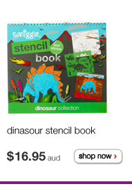 dinasour stencil book $16.95aud shop now >