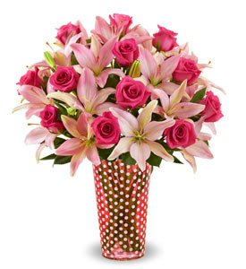 Magnificent Pink Rose and Lily Shop Now