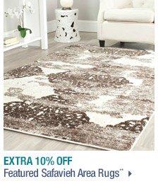 Extra 10% off Featured Safavieh Area Rugs**