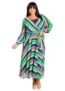 Sheer Striped Maxi Dress