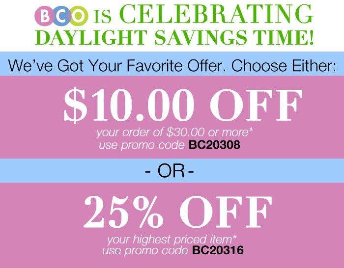 BCO Is Celebrating Daylight Savings Time!