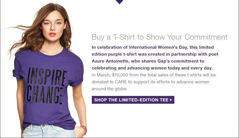 Buy a T-Shirt to Show Your Commitment | SHOP THE LIMITED-EDITION TEE