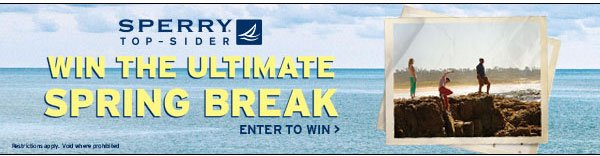 Win the Ultimate Spring Break from Sperry Top-Sider and Journeys!