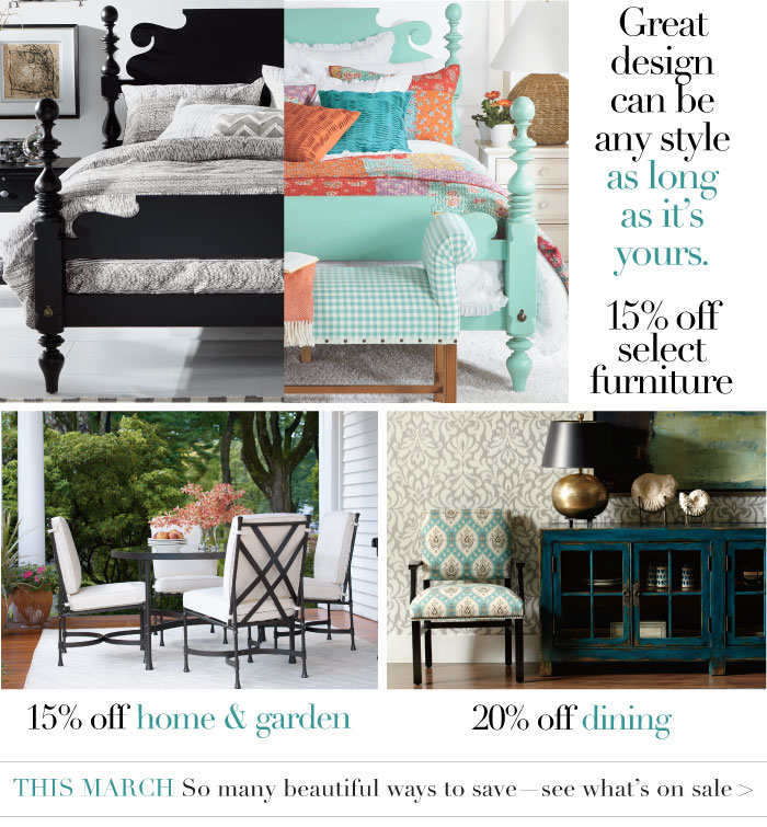 15% off select furniture