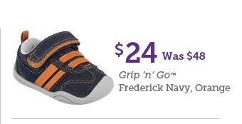 $24 Was $48 Grip 'n' Go Frederick Navy, Orange