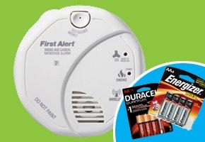 Carbon Monoxide detector and batteries.