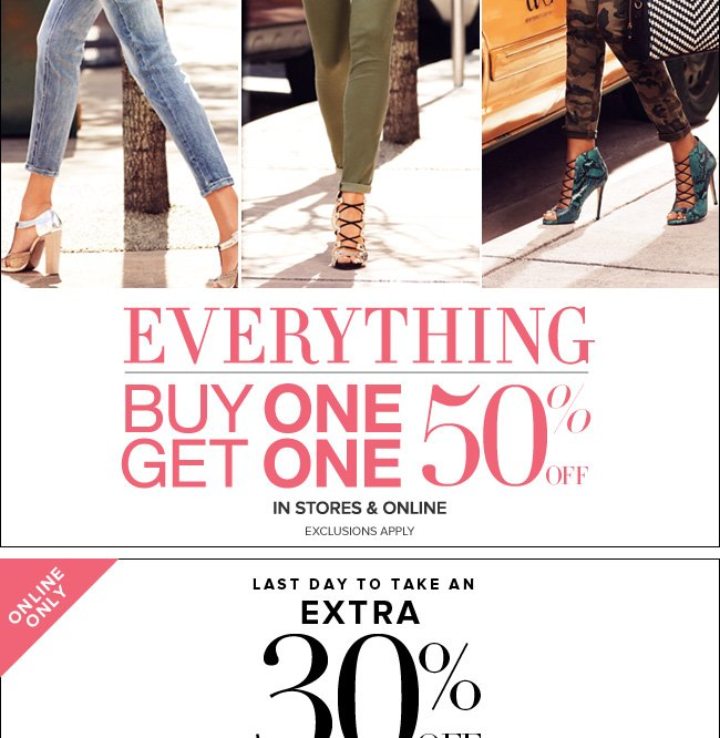 Online Only - Extra 30% Off!