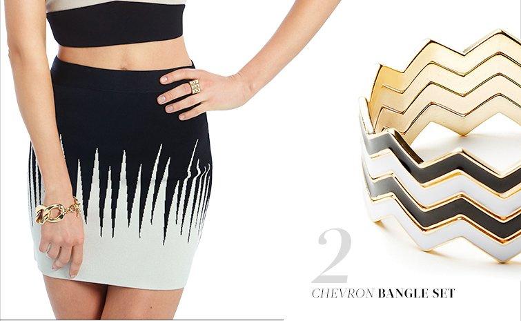 Chevron Bangle Set