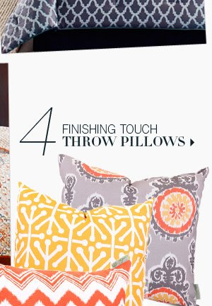 4. Finishing Touch Throw Pillows