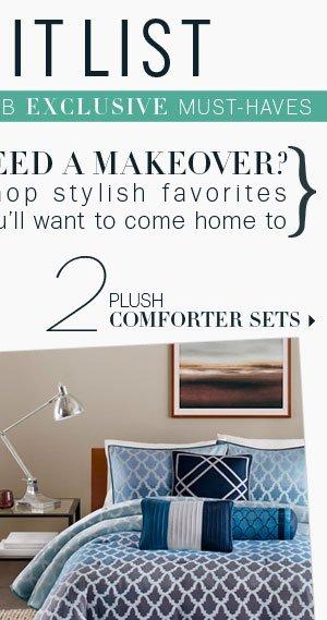 2. Plush Comforter sets