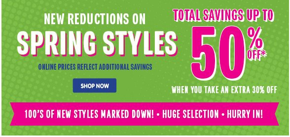 New Reductions on Spring Styles!