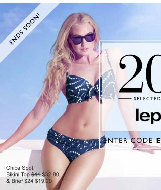 20% off Lepel ends soon!