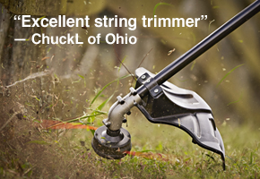 """Excellent string trimmer"" — ChuckL of Ohio"