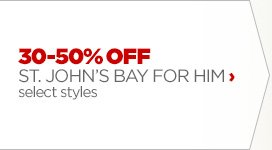 30 – 50% OFF ST. JOHN'S BAY FOR  HIM › select styles