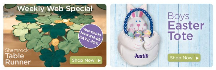 Weekly Web Special & Plush Easter Baskets
