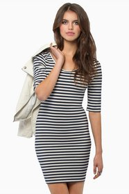 Switching Lines Bodycon Dress $32