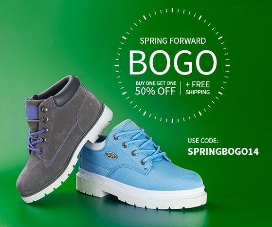Daylight Savings BOGO 50% Off + Free Shipping