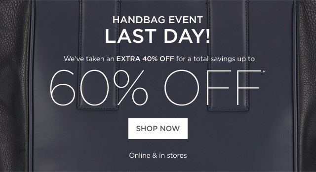 Up to 60% off Handbag Event