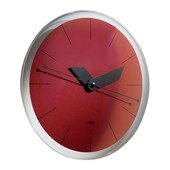 Sole Wall Clock, Red