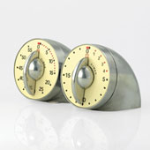Double Timer Aluminium. 60 min, 20 min.