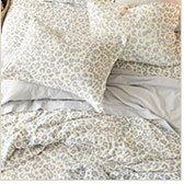 Snow Leopard Flannel Bedding