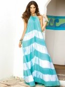 Elan Flowy Halter Maxi Dress in Mint