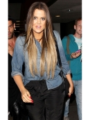 """Current Elliott The Perfect Shirt in Miner Blue as Seen On Khloe Kardashian, Katie Holmes, and More"""