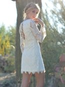 West Coast Wardrobe Belle La Vie Lace Dress In Cream