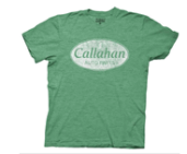 Tommy Boy Callahan Auto Parts Heather Green with Distressed White Print T-shirt