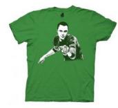 The Big Bang Theory Sheldon Cooper Bazinga Adult Flip Irish Green T-shirt