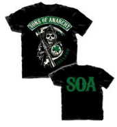 Sons of Anarchy SOA Ireland Reaper Logo Adult Black T-Shirt