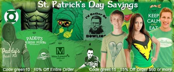 St. Patrick's Day Sale at TVStoreOnline.com