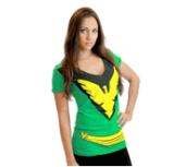 Marvel X-Men Phoenix Deep V-Neck Juniors Costume T-Shirt