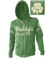 It's Always Sunny in Philadelphia Paddy's Irish Pub Heathered Green Hoodie Zip Up Sweatshirt