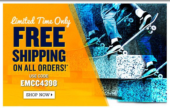 Free Shipping on ALL orders!*
