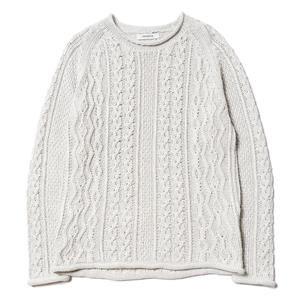 nonnative Sailor Sweater - C/L Mix Woven White