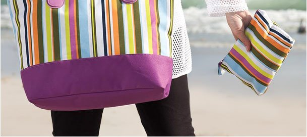 Free striped bag set with any purchase! Use RDGIFT