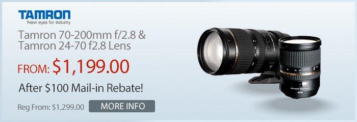 Adorama - Tamron $100 Rebate On Lenses