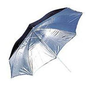 "Adorama - JTL 36"" Silver Reflective Photographic Umbrella with Black Back"