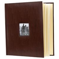 "Adorama - Flashpoint Photo Album, Leatherette Collection, Holds 500 4x6"" Photos, 5 Per Page. Color: Brown."