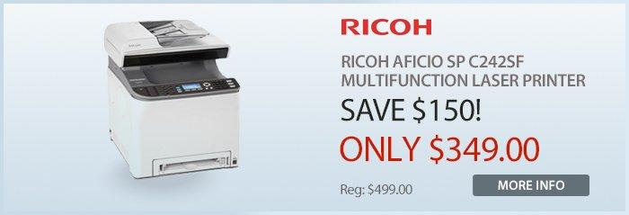 Adorama - Ricoh Aficio SP C242SF Laser Printer