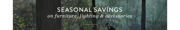 Seasonal Savings on furniture' lighting & accessories
