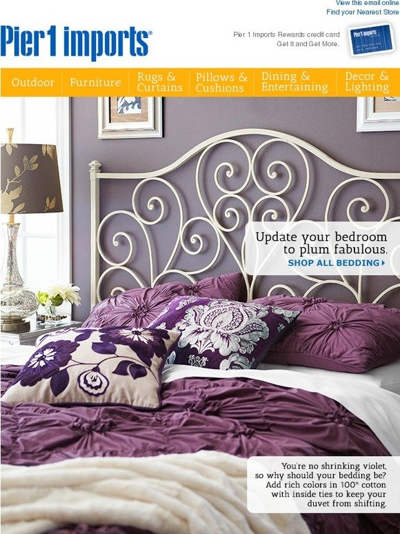 . Pier 1  Undercover operation  Spy the latest in bedding    Milled