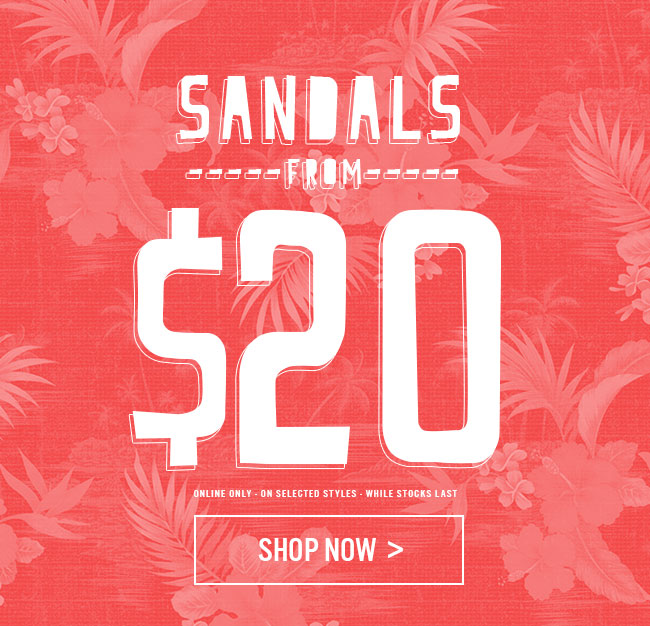 Shop Womens Sandals From $20