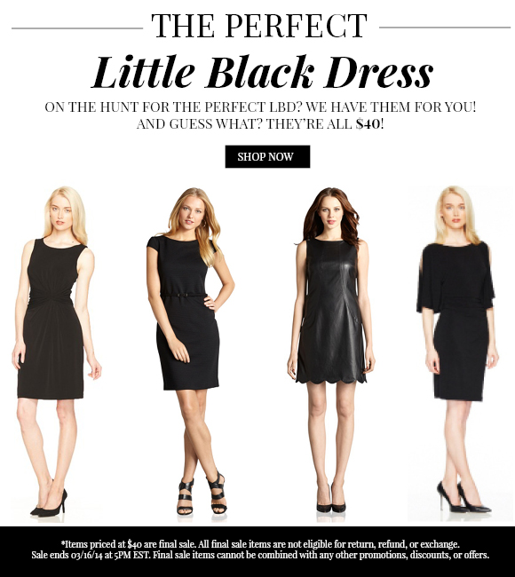 The Perfect Little Black Dress: Just $40!