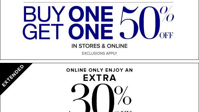 BOGO 50% Off Everything!