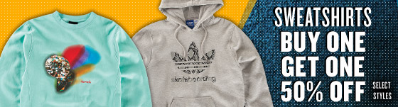 Sweatshirts: Buy One Get One 50% Off